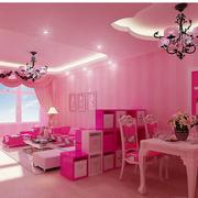 粉色可爱的家居餐厅
