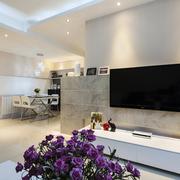 客厅新颖现代化电视背景墙