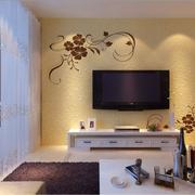海藻泥电视背景墙