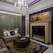 美式风格客厅电视墙