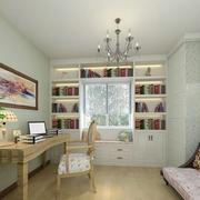 白色简单的书柜