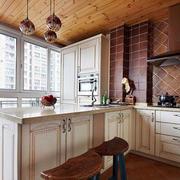 清新风格的厨房吧台