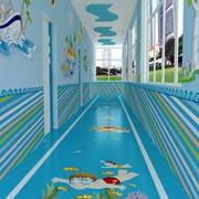 幼儿园蓝色走廊