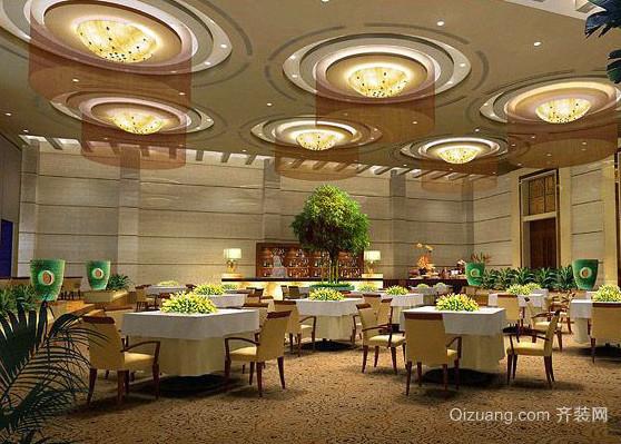 多种元素融合的餐馆装修效果图