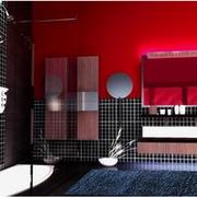 卫生间黑色瓷砖展示