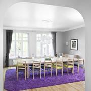 大户型餐厅紫色地毯