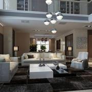 复式楼现代客厅照明