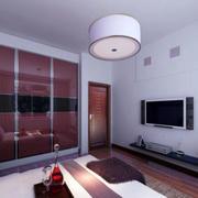 卧室白色电视背景墙