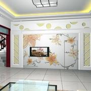 客厅彩雕艺术背景墙