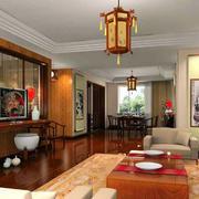 中式客厅电视柜欣赏