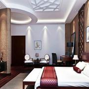 现代居家卧室床