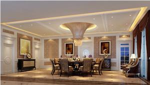 新时代新古典餐厅装修效果图