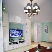 客厅组合白色电视柜