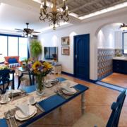 海洋般的家居餐厅