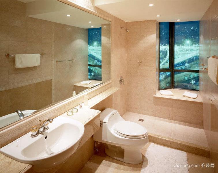 2015大户型美丽舒心的浴室装修效果图