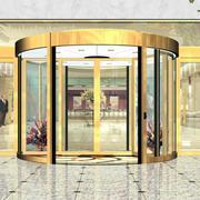 金色豪华的大厅旋转门