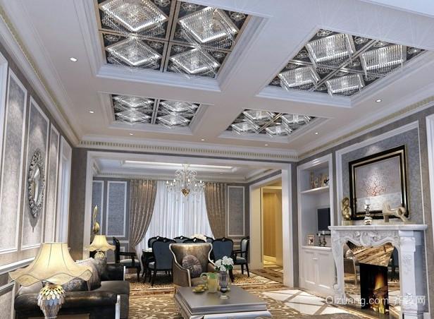 70平米搭配清新风格客厅吊顶装修效果图