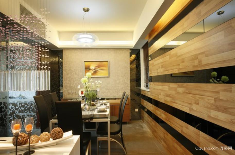 现代时尚木制餐厅装修效果图