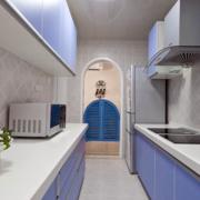 厨房紫色橱柜门板