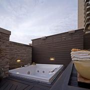 阳台浴缸设置