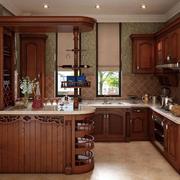 厨房美式实木橱柜