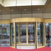 豪华酒店大厅旋转门