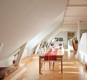 纯情白色小复式楼精美阁楼装修效果图
