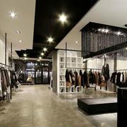 服装店走廊黑色吊顶