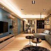 客厅蓝色电视壁纸