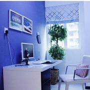 书房深蓝色墙面