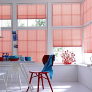 餐厅红色系窗帘