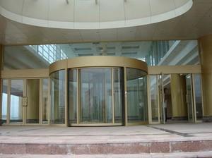 高级大厦手动旋转门装修效果图