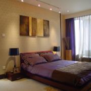 小卧室紫色床图片