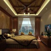 卧室实木吊顶展示