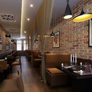 咖啡厅复古背景墙
