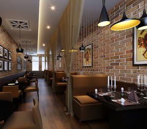2015都市休闲小户型咖啡馆背景墙装修效果图鉴赏