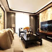 客厅瓷砖电视背景