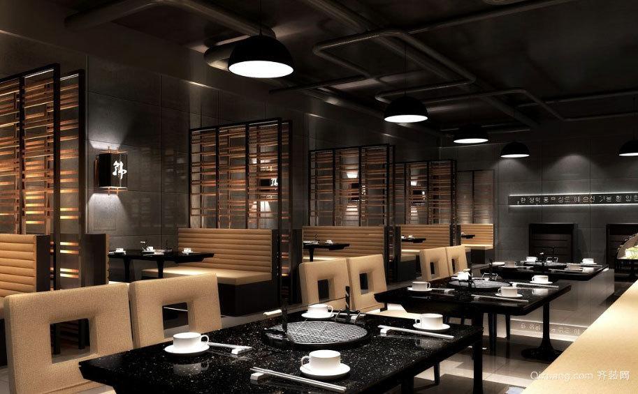 90平米广受欢迎的韩式料理餐厅装修效果图