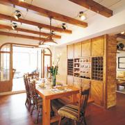 原木色现代化餐厅