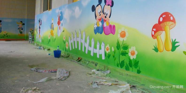 想象力丰富的幼儿园壁画装修效果图