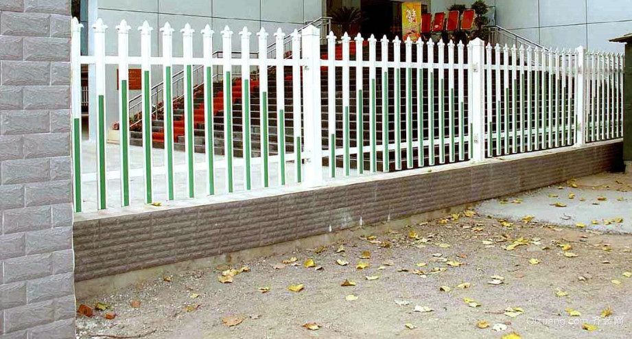 田园风格围墙栏杆设计装修效果图