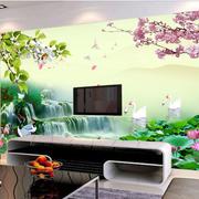 山水画电视背景墙
