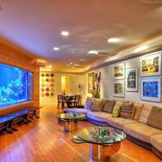 大户型别墅客厅鱼缸