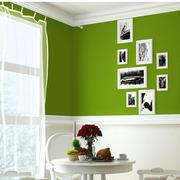餐厅绿色背景墙