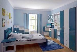 蓝色梦幻的儿童房