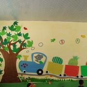简约壁画实景图