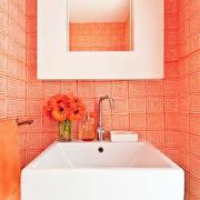 卫生间洗手台背景墙瓷砖
