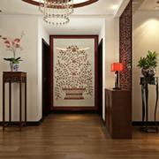 别墅客厅玄关时尚设计