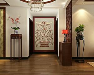 高大上新中式风格别墅客厅玄关装修效果图