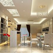 明亮餐厅玻璃吊顶